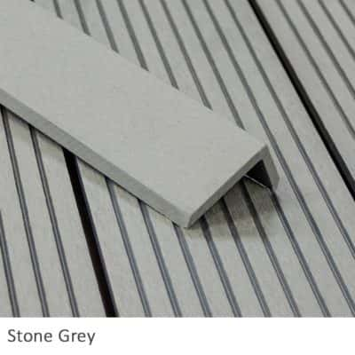 Stone Grey Composite Decking Corner Trims
