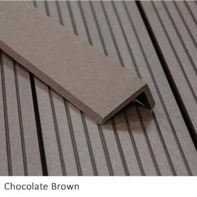 Chocolate Composite Decking Corner Trims