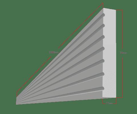 Fascia dimensions