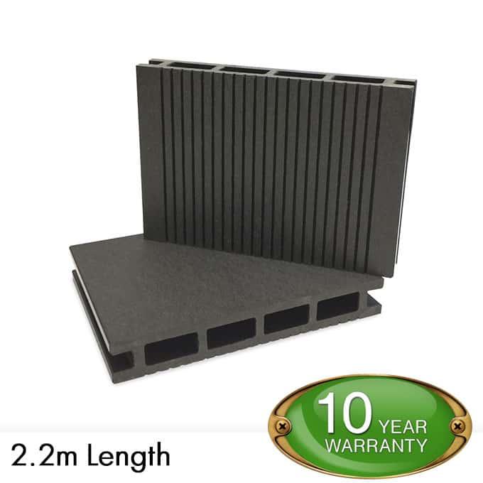 Pvc decking boards composite decking black per for Decking boards 3 6 metres
