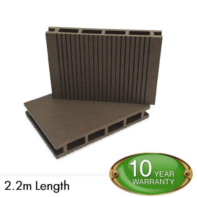 E deck wpc decking brown composite decking per for Decking boards 3 6 metres