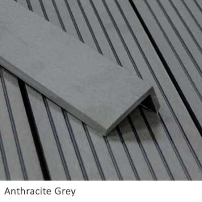 Anthracite Grey Composite Decking Corner Trims