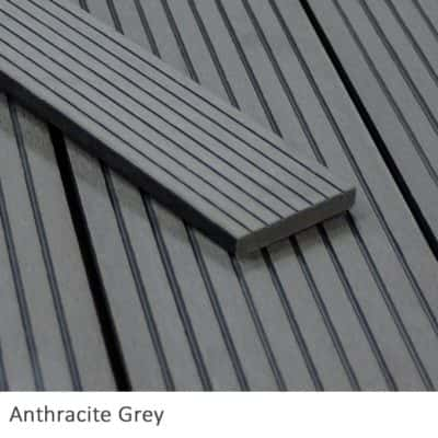Anthracite Composite Decking Fascia Board