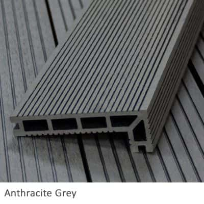 Anthracite Grey Composite Decking Step Nosing