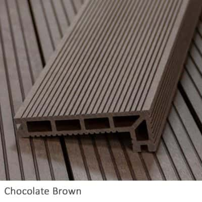 Chocolate Composite Decking Step Nosing
