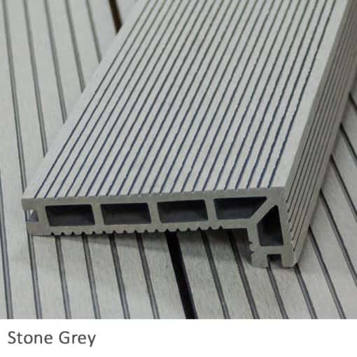 stone grey composite decking nosing