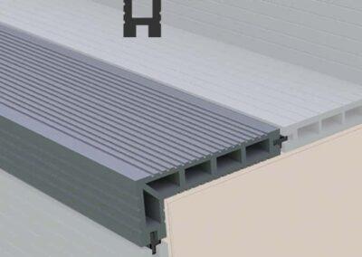 Tough Decking Composite Step Nosing