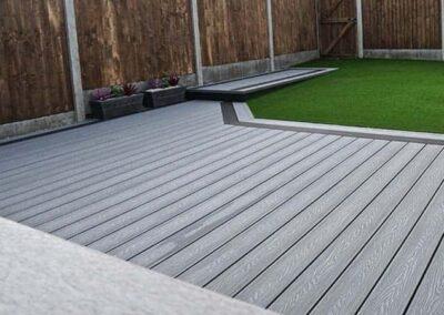 Stone Grey Woodsman Wood grain composite decking