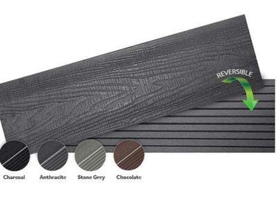 Woodsman+ reversible decking board
