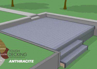 Tough Decking Anthracite Composite Decking