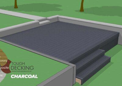 Tough Decking Charcoal Composite Decking