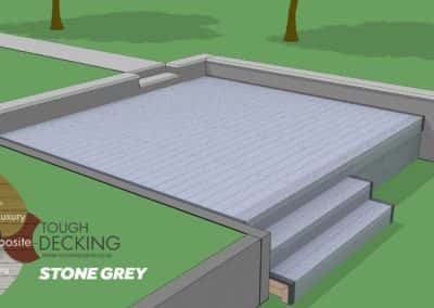 Tough Decking Stone Grey Composite Decking