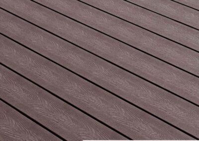 Tough Decking Woodsman+ Chocolate Wood Grain Decking Board