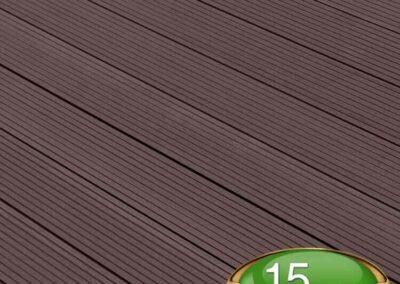 Chocolate Brown Composite Decking Board - Tough Decking, Torquay