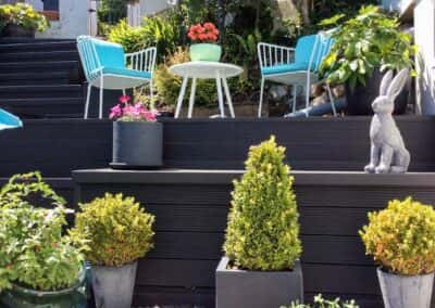 Charcoal Composite Decking Installed
