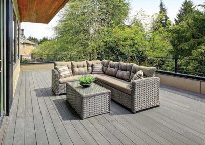 stone grey composite decking